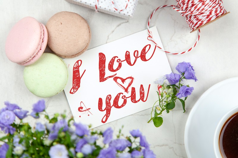 I Love You Signage | cheap at home valentine's day ideas