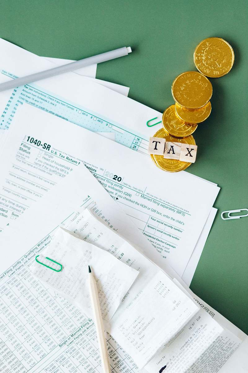 tax documents on the table | senior discounts age 55