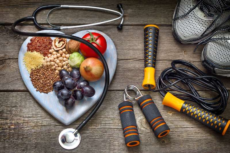 Healthy lifestyle concept with diet and fitness-Good Nutrition and Physical Fitness
