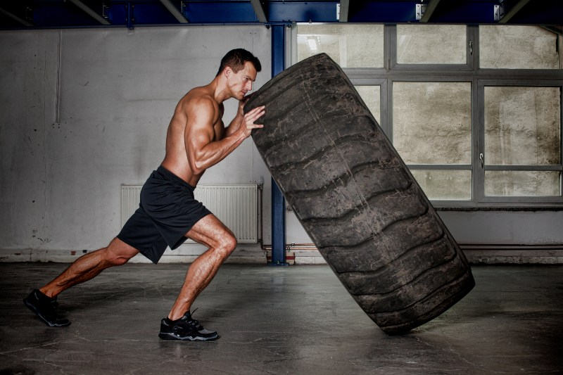 Man Flipping Tire   Losing Weight After 40