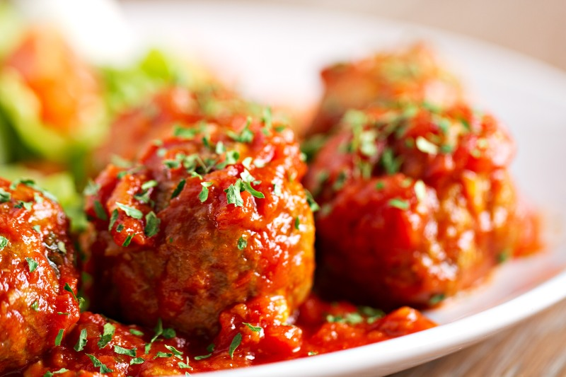 Meatballs with Salad   Keto Air Fryer Recipes