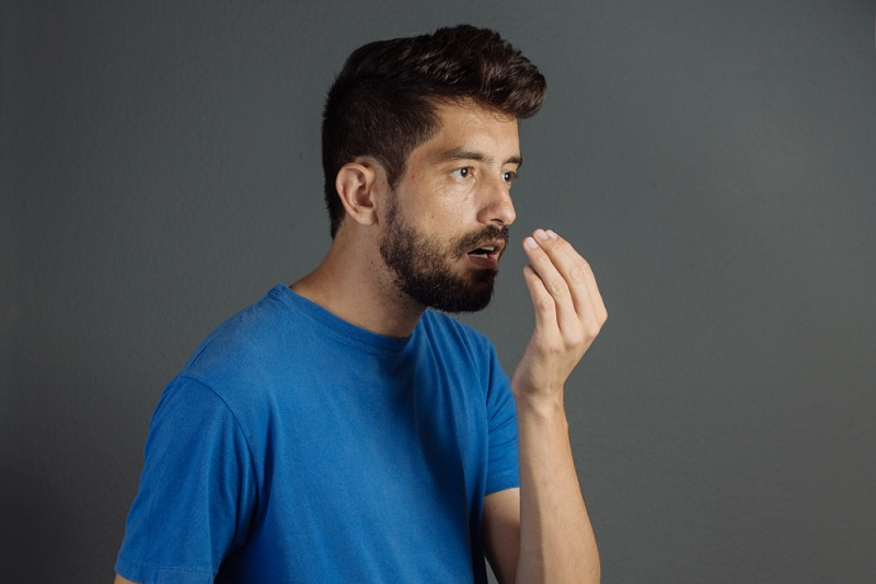 bad breath halitosis concept young man   what is selenium